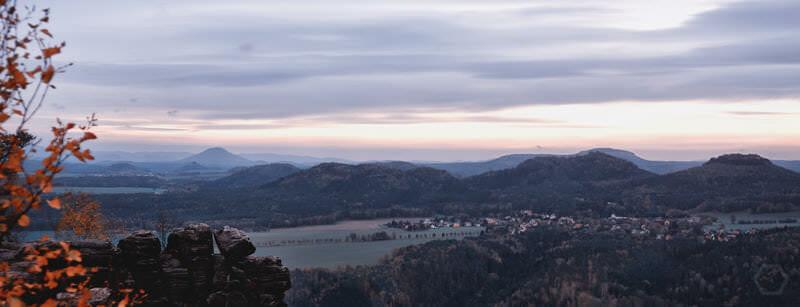 Blick vom Lilienstein auf das südliche Elbsandsteingebirge