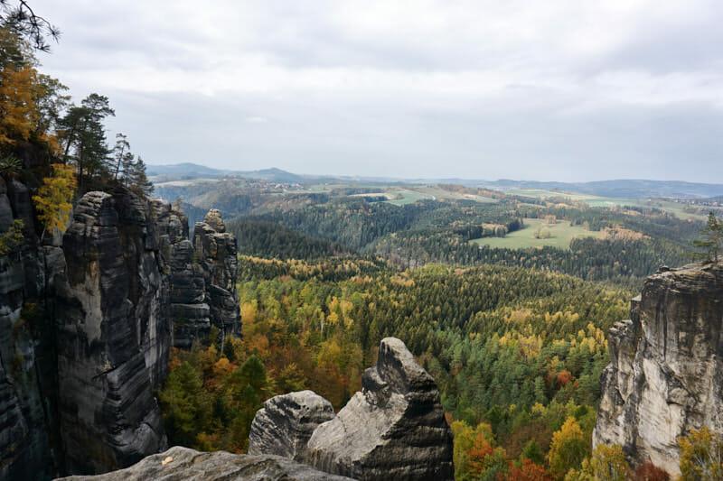 herrliche Aussichten auf die Sächsische Schweiz