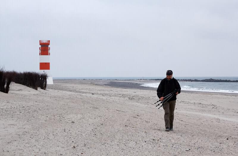 Breiter Strand auf der Insel Düne
