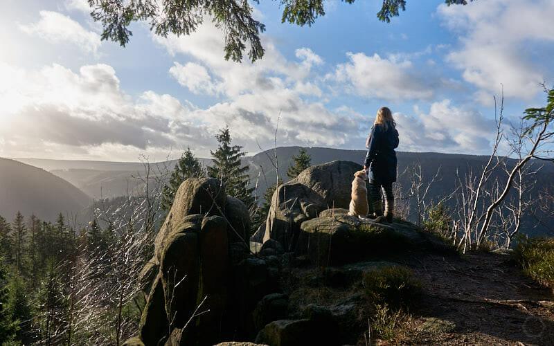 Kästeklippen Wanderung - Blick von Mönch und Nonne