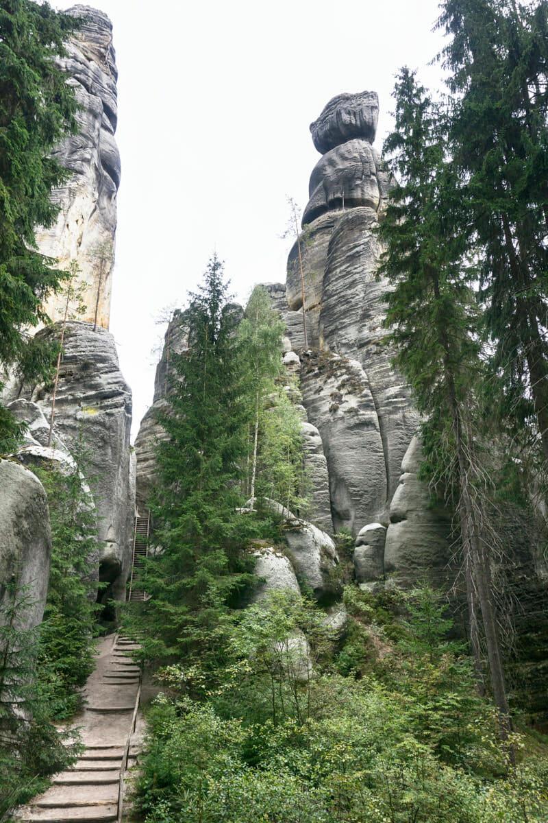 Adersbacher Felsenstadt Tschechien Fernwehbus Hoffentlich bleibt der stehen