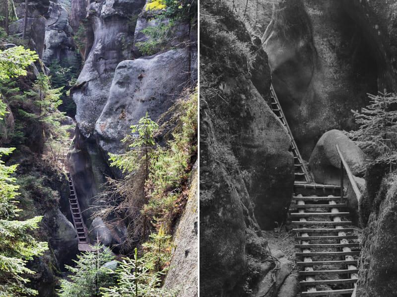Adersbacher Felsenstadt Tschechien Fernwehbus - Unvergessliche Treppen