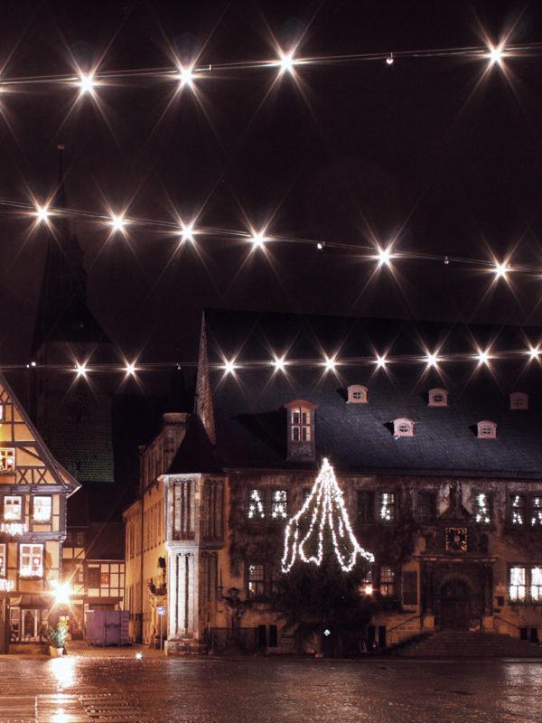 Quedlinburg Marktplatz bei Nacht